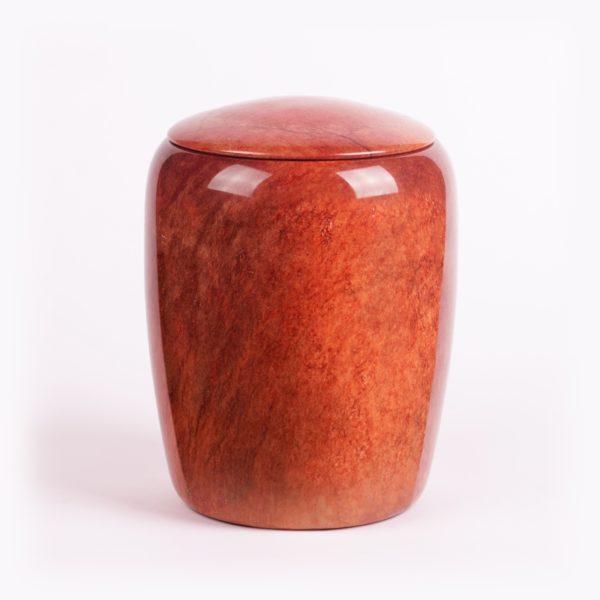 Oranje urn natuursteen
