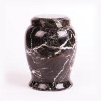 Urn natuursteen Zwart met wit
