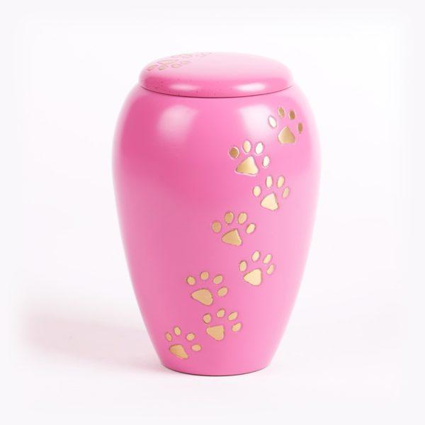 Dieren urn Roze groot model