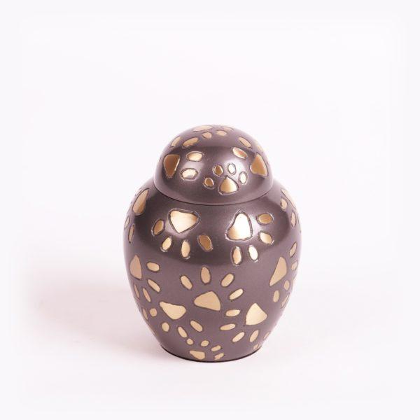 Pootafdruk messing urn